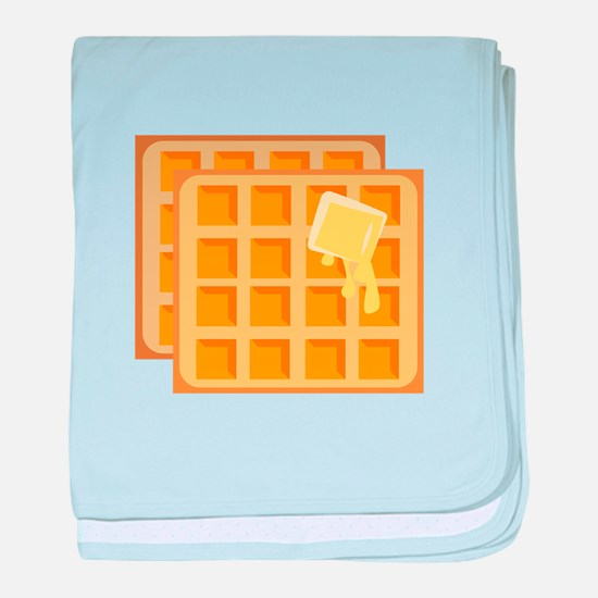 Buttered Waffles baby blanket