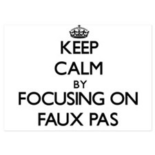 Keep Calm by focusing on Faux Pas Invitations