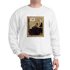 Whistler's Mother & Golden Retriever Sweatshirt