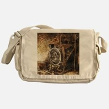 Antique Old Photo Camera Messenger Bag