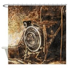 Antique Old Photo Camera Shower Curtain