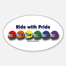 Ride with Pride Oval Decal