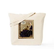 Whistler's Mother & Golden Retriever Tote Bag