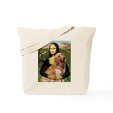 A new Mona Lisa & Golden Retriever Tote Bag