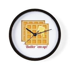 Butter Em Up Wall Clock