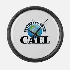 World's Best Cael Large Wall Clock