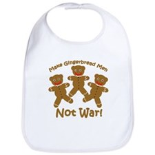 Gingerbread Men Not War Bib