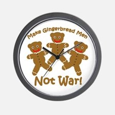 Gingerbread Men Not War Wall Clock