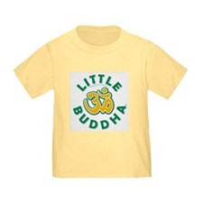 Little Buddha Yoga Symbol Baby T Shirts Lemon