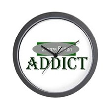 Snooze Button Addict Wall Clock