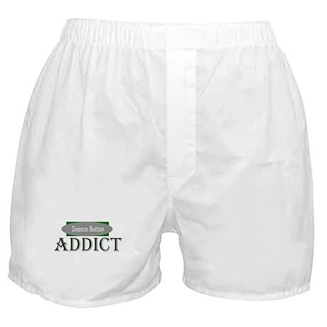 Snooze Button Addict Boxer Shorts