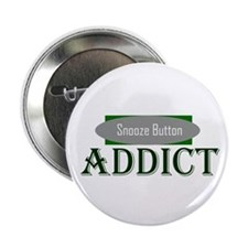 "Snooze Button Addict 2.25"" Button (10 pack)"