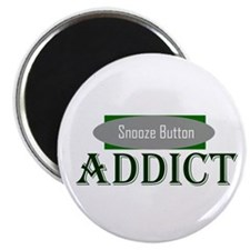"Snooze Button Addict 2.25"" Magnet (100 pack)"