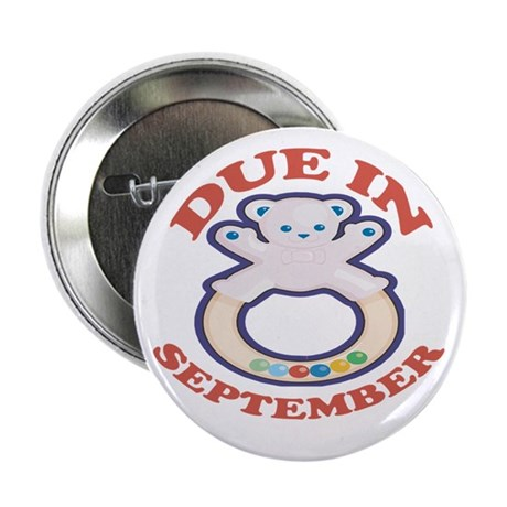 """Due In September 2.25"""" Button (100 pack)"""