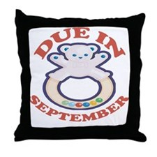 Due In September Throw Pillow