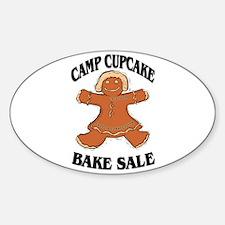 Camp Cupcake Bake Sale Oval Decal