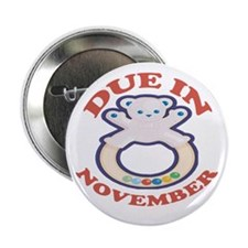 "Due In November 2.25"" Button (100 pack)"