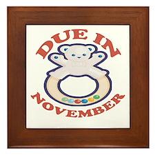 Due In November Framed Tile