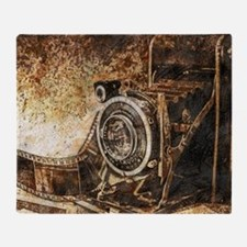 Antique Old Photo Camera Throw Blanket