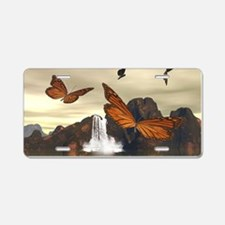 Butterflys Aluminum License Plate