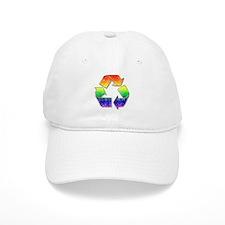 Vintage Rainbow Recycle Arrows Baseball Cap