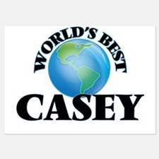 World's Best Casey Invitations