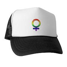 Vintage Rainbow Woman's Symbol Trucker Hat