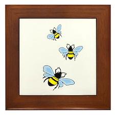Bumble Bees Framed Tile