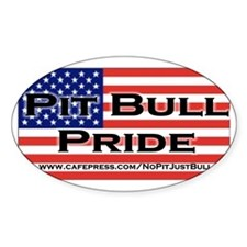Pit Bull Pride Oval Decal