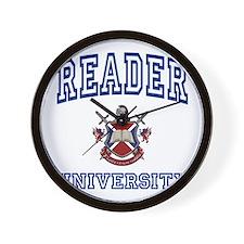 READER University Wall Clock
