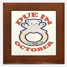 Due In October Framed Tile