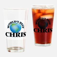 World's Best Chris Drinking Glass