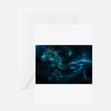 blue dragon Greeting Cards