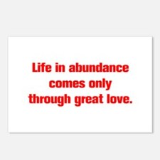 Life in abundance comes only through great love Po
