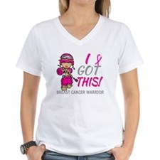 Combat Girl 2 Breast Cancer Shirt