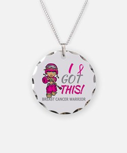 Combat Girl 2 Breast Cancer Necklace