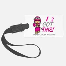 Combat Girl 2 Breast Cancer HotP Luggage Tag