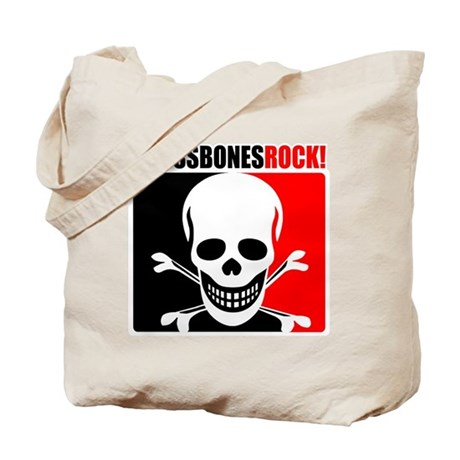 Crossbones Rock! Tote Bag