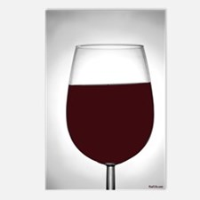 red wine Postcards (Package of 8)
