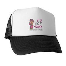 Combat Girl 2 Breast Cancer Pink Trucker Hat