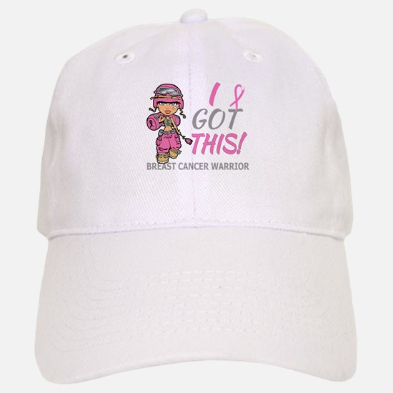 Combat Girl 2 Breast Cancer Pink Baseball Baseball Cap