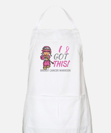 Combat Girl 2 Breast Cancer Pink Apron