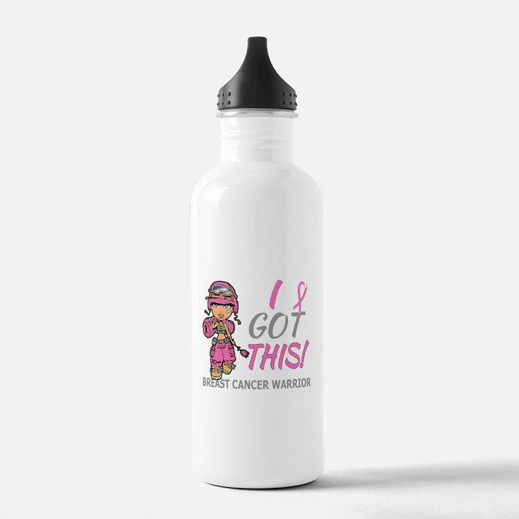 Combat Girl 2 Breast C Water Bottle