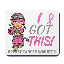 Combat Girl 2 Breast Cancer Pink Mousepad
