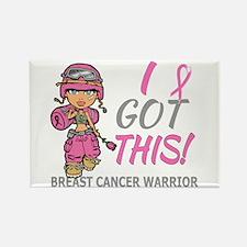 Combat Girl 2 Breast Ca Rectangle Magnet (10 pack)