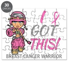 Combat Girl 2 Breast Cancer Pink Puzzle