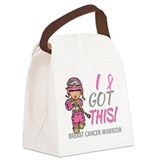 Breast cancer Canvas Lunch Bag