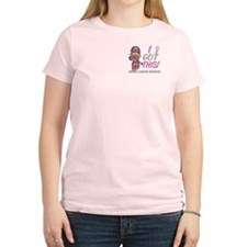 Combat Girl 2 Breast Cancer T-Shirt