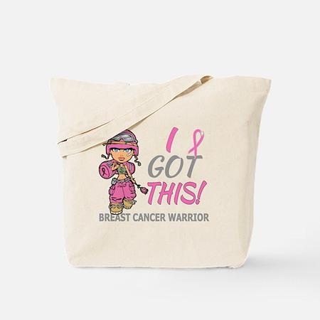 Combat Girl Tote Bag