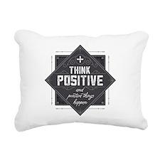 Think Positive Rectangular Canvas Pillow